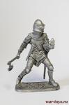 Французский рыцарь, середина 14 века - Оловянный солдатик. Чернение. Высота солдатика 54 мм