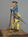 Шведский мушкетер пехотного полка (Великая Северная Война), 1708 - Оловянный солдатик, белый металл (набор для сборки из 10 деталей). Размер 54 мм (1:30).  Бонус: в комплекте 2 варианта головных убора
