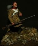 Гренадер пехотного полка (Крымская война), Россия 1853-56 - Оловянный солдатик, белый металл (набор для сборки из 15 деталей). Размер 54 мм (1:30) Бонус: в комплекте 2 варианта голов, 3 варианта рук, 2 варианта амуниции