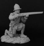 Испанский аркебузир, 1550-90 - Оловянный солдатик, белый металл (набор для сборки из 8 деталей). Размер 54 мм (1:30)