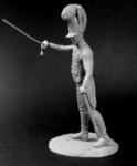 Баварский офицер пехотных полков, 1812-15 - Оловянный солдатик, белый металл (набор для сборки из 9 деталей). Размер 54 мм (1:30)