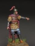 Византийский командир, 10-11 века - Оловянный солдатик, белый металл (набор для сборки из 9 деталей). Размер 54 мм (1:30)