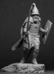 Русский князь, 14 век - Оловянный солдатик, белый металл (набор для сборки из 14 деталей). Размер 54 мм (1:30)