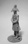 Русский генерал П.И.Багратион, 1812 г. - Оловянный солдатик, белый металл (набор для сборки из 6 деталей). Размер 54 мм (1:30)