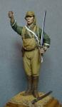 Японский десантник подразделения Каору, 1944 - Оловянный солдатик, белый металл (набор для сборки из 7 деталей). Размер 54 мм (1:30)