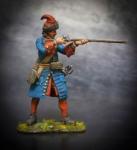 Русский гренадер пехотных полков, 1708-10 гг. - Оловянный солдатик, белый металл (набор для сборки из 14 деталей). Размер 54 мм (1:30)