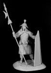 Китайский тяжеловооруженный воин, XIII век - Оловянный солдатик, белый металл (набор для сборки из 11 деталей). Размер 54 мм (1:30)