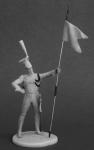 Рядовой уланский полков Французской Императорской гвардии, 1810- - Оловянный солдатик, белый металл (набор для сборки из 14 деталей). Размер 54 мм (1:30). 3 варианта положения рук