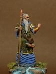 Миры Фэнтези: Волшебник - Оловянный солдатик, белый металл (набор для сборки из 10 деталей). Размер 54 мм (1:30)