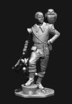 Миры Фэнтези: Урфин Джюс - Оловянный солдатик, белый металл (набор для сборки из 11 деталей). Размер 54 мм (1:30)