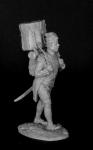 Барабанщик гренадерских рот линейных полков, Франция 1800-05 - Оловянный солдатик, белый металл (набор для сборки из 8 деталей). Размер 54 мм (1:30)