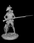 Фузилер линейных пехотных полубригад, Франция 1793-1800 - Оловянный солдатик, белый металл (набор для сборки из 18 деталей). Размер 54 мм (1:30). 2 варианта головных уборов и султанов к ним