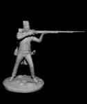 Гренадер линейных пехотных полубригад, Франция 1794-1801 - Оловянный солдатик, белый металл (набор для сборки из 13 деталей). Размер 54 мм (1:30)