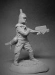Китайский арбалетчик, XIII век - Оловянный солдатик, белый металл (набор для сборки из 9 деталей). Размер 54 мм (1:30)