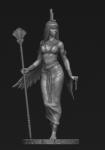 Египетская богиня Исида - Оловянный солдатик, белый металл (набор для сборки из 9 деталей). Размер 54 мм (1:30)