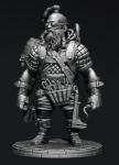 Стимпанк: Боевой гном инженер - Оловянный солдатик, белый металл (набор для сборки). Размер 54 мм (1:30)