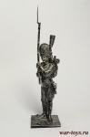 Унтер-офицер гренадер 3-го Швейцарского п. Франция 1812 - Оловянный солдатик. Чернение. Высота солдатика 54 мм