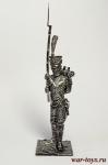 Унтер-офицер гренадер п. линейной пехоты. Франция 1812 - Оловянный солдатик. Чернение. Высота солдатика 54 мм