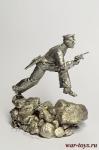 Моряк (офицер), 1941-45 г.г. - Оловянный солдатик. Чернение. Высота солдатика 54 мм