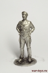 Жан Габен - Оловянный солдатик. Чернение. Высота солдатика 54 мм