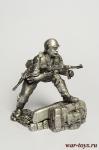 Пехотинец, Германия - Оловянный солдатик. Чернение. Высота солдатика 54 мм