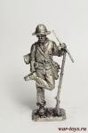 Рядовой армии Конфедерации в походе, 1864 год - Оловянный солдатик. Чернение. Высота солдатика 54 мм