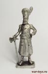 Сапер полка Замора - Оловянный солдатик. Чернение. Высота солдатика 54 мм