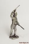Офицер добровольческого корпуса Крокова, 1807 - Оловянный солдатик. Чернение. Высота солдатика 54 мм