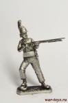 Егерь добровольческого корпуса Крокова, 1807 - Оловянный солдатик. Чернение. Высота солдатика 54 мм