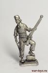 Моряк абордажной команды, Франция - Оловянный солдатик. Чернение. Высота солдатика 54 мм