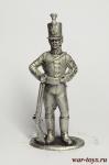 Рядовой егерских полков 1802-06 - Оловянный солдатик. Чернение. Высота солдатика 54 мм