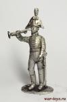 Трубач Орденского кирасирского полка, 1802-1803 - Оловянный солдатик. Чернение. Высота солдатика 54 мм
