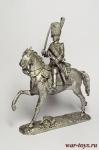 Французский гренадер - Оловянный солдатик. Чернение. Высота солдатика 54 мм