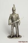Обер-офицер Псковского кирасирского полка, весна 1813 - Оловянный солдатик. Чернение. Высота солдатика 54 мм