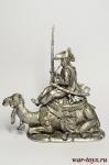 Рядовой полка дромадеров с верблюдом 1801 год - Оловянный солдатик. Чернение. Высота солдатика 54 мм