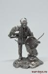 Индеец с луком - Оловянный солдатик. Чернение. Высота солдатика 54 мм