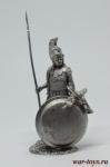 Греческий Гоплит, VI в. до н.э. - Оловянный солдатик. Чернение. Высота солдатика 54 мм