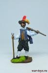 Английский мушкетёр-ветеран, 1588 год - Оловянный солдатик коллекционная роспись 54 мм. Все оловянные солдатики расписываются художником в ручную