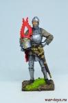 Европейский рыцарь, конец 14 века - Оловянный солдатик коллекционная роспись 54 мм. Все оловянные солдатики расписываются художником в ручную