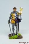 Западноевропейский рыцарь, конец 14 века - Оловянный солдатик коллекционная роспись 54 мм. Все оловянные солдатики расписываются художником в ручную