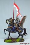 Польский гусар Придворной хоругви, 1605 год - Оловянный солдатик коллекционная роспись 54 мм. Все оловянные солдатики расписываются художником в ручную