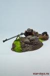 Бронебойщик - Оловянный солдатик коллекционная роспись 54 мм. Все оловянные солдатики расписываются художником в ручную
