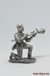 Немецки пехотинец с Фауст-патроном, 1944-45 - Не крашенный оловянный солдатик. Высота 54 мм.