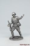 Гвардии рядовой Красной Армии, 1943-45 гг. СССР - Не крашенный оловянный солдатик. Высота 54 мм.