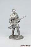 Рядовой Стрелковых частей Красной Армии, 1941-43 гг. СССР - Не крашенный оловянный солдатик. Высота 54 мм.