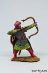 Мусульманский воин-лучник, 12-13 вв - Оловянный солдатик коллекционная роспись 54 мм. Все оловянные солдатики расписываются художником в ручную