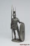 Римский легионер - Не крашенный оловянный солдатик. Высота 54 мм.