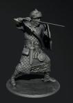 Бербер-телохранитель (династия Альмохадов), XII-XIII века - Оловянный солдатик, белый металл (набор для сборки из 7 деталей). Размер 54 мм (1:30)