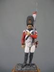 Швейцарский гренадер, 1808-13 гг. - Оловянный солдатик, белый металл (набор для сборки из 10 деталей). Размер 54 мм (1:30)