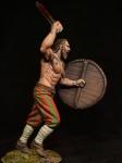Викинг - берсеркер, 9-10 века. - Оловянный солдатик, белый металл (набор для сборки из 7 деталей). Размер 54 мм (1:30)